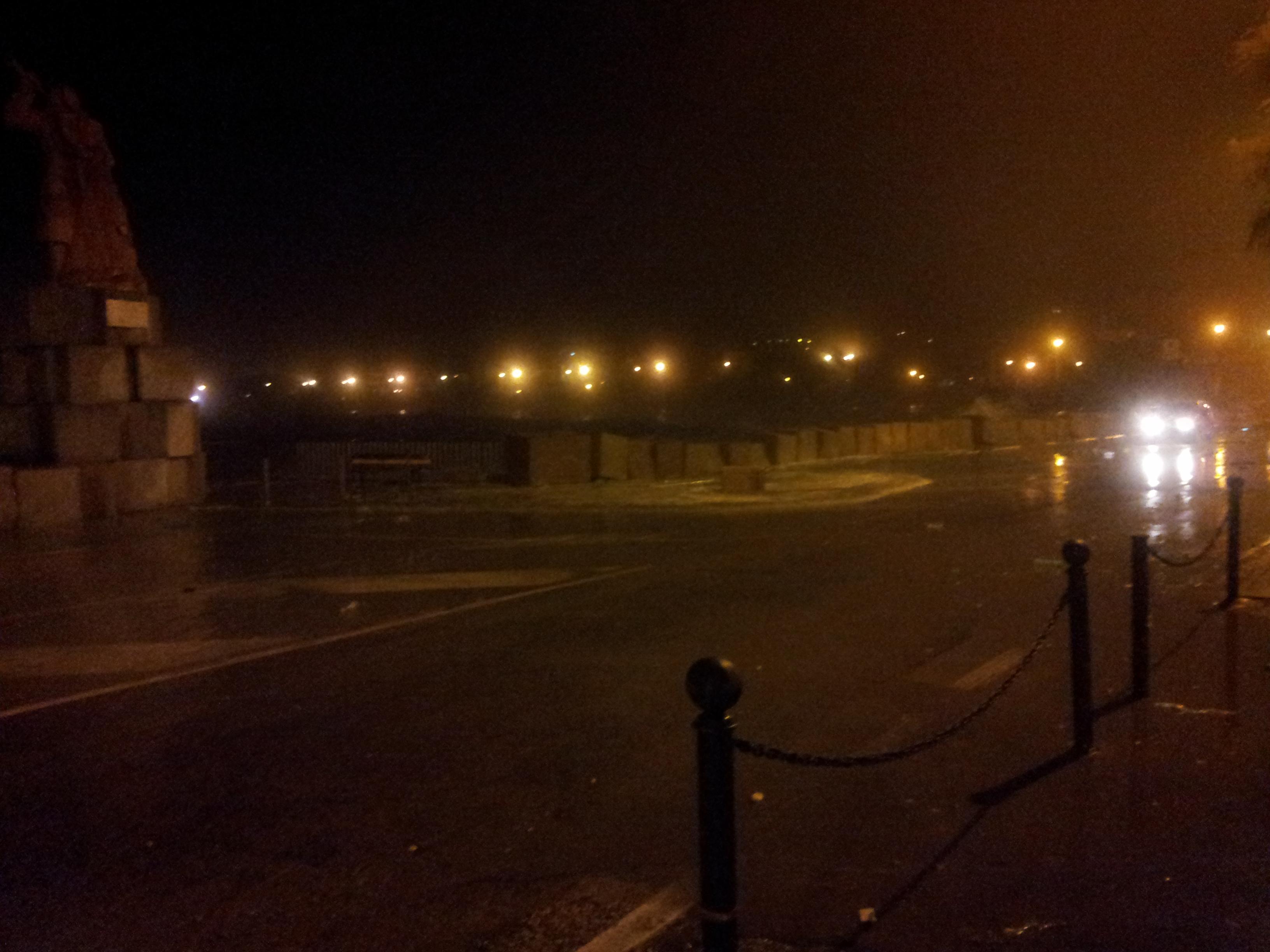 Mareggiata sul lungomare di San Benedetto, ore 3 del 1° novembre 2012