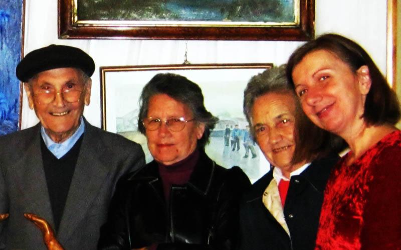 4 Plinio Spina con sorella Anna e Gabriella e Annunzia Fumagalli