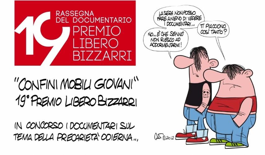 La locandina del 19esimo Premio Libero Bizzarri disegnata da Marco Calcinaro