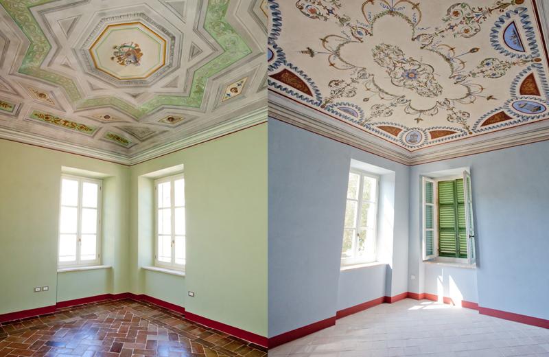 A sinistra stanza D secondo piano a destra stanza Franz Listz secondo piano