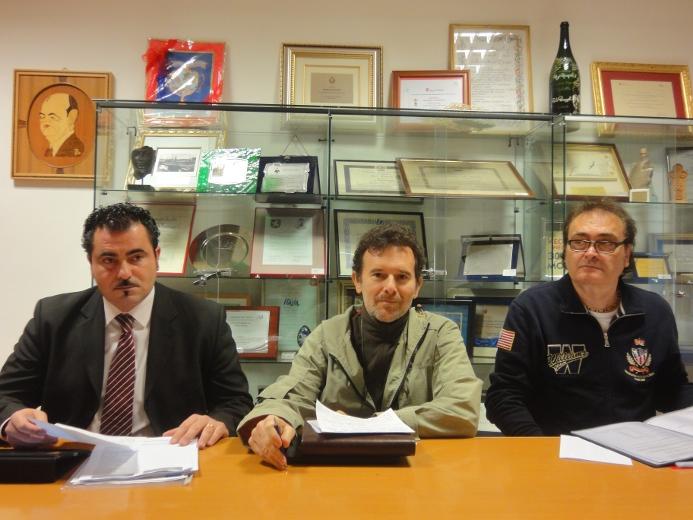 Da sinistra: Serafino Angelini, Riego Gambini e Peppe Giorgini