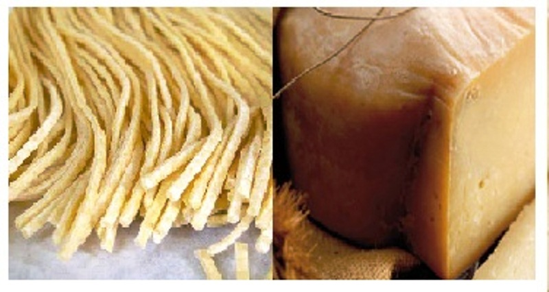 Gemellaggio maccheroncini e formaggio di fossa