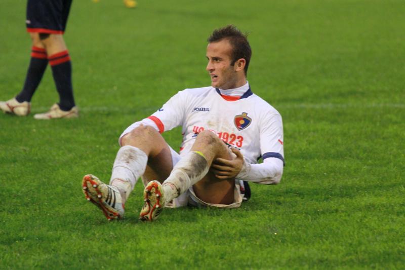 Samb-Civitanovese (4-0), Nocera si guadagna un calcio di rigore (Foto Bianchini)