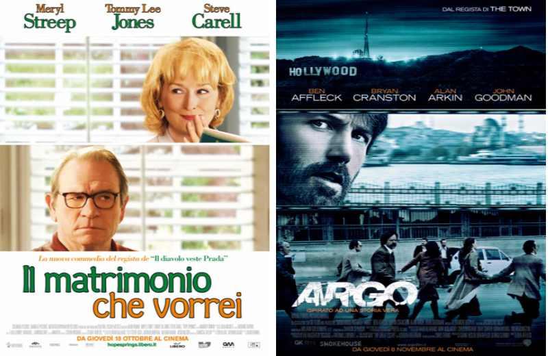 Il Matrimonio che vorrei e Argo al Cinema Margherita