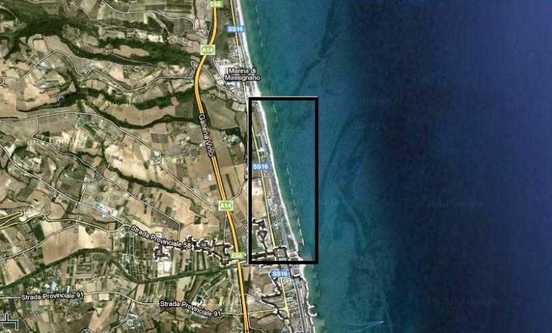 Lungomare vista satellitare google