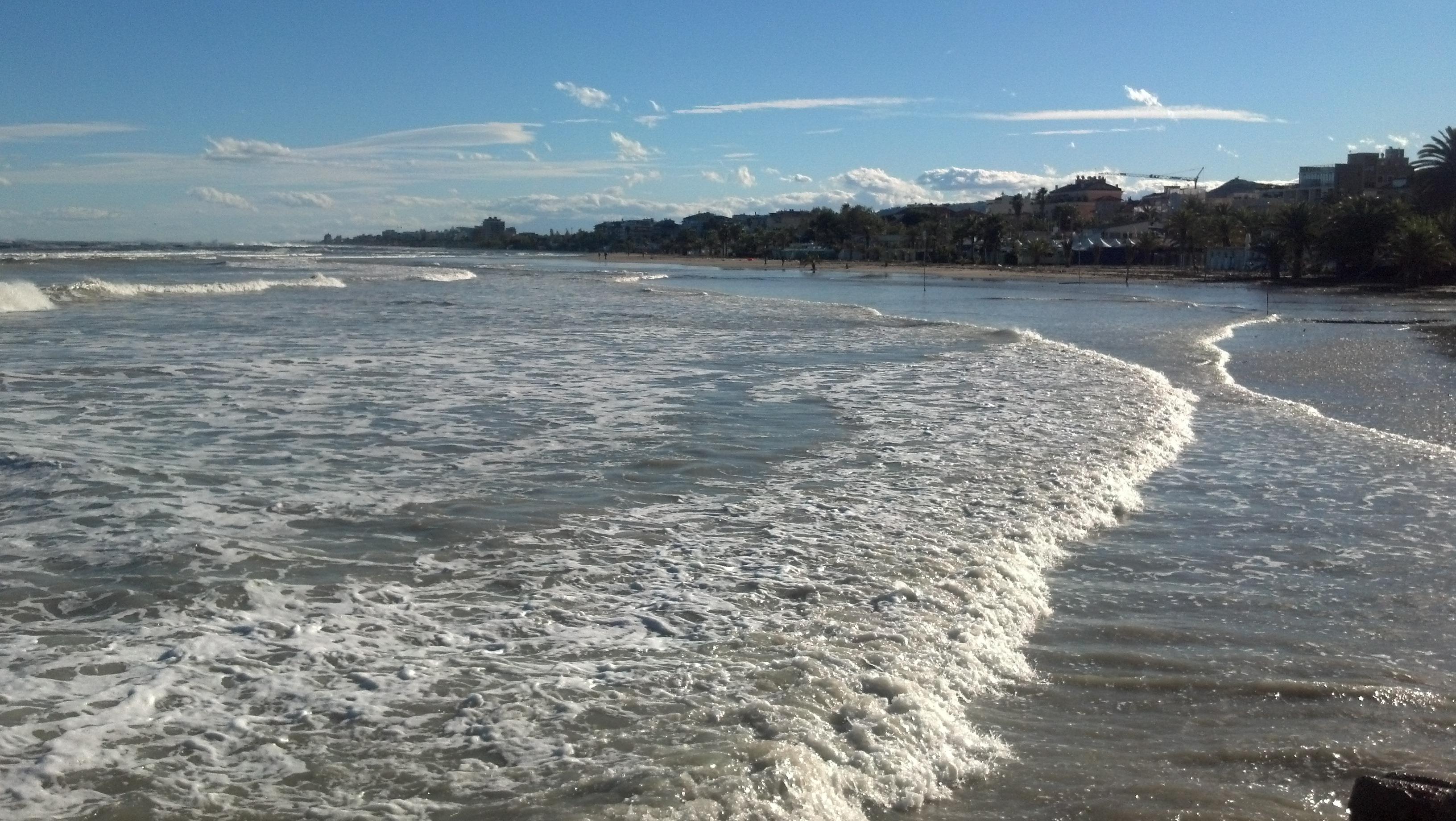 Mareggiata a San Benedetto 1° novembre 2012, il litorale