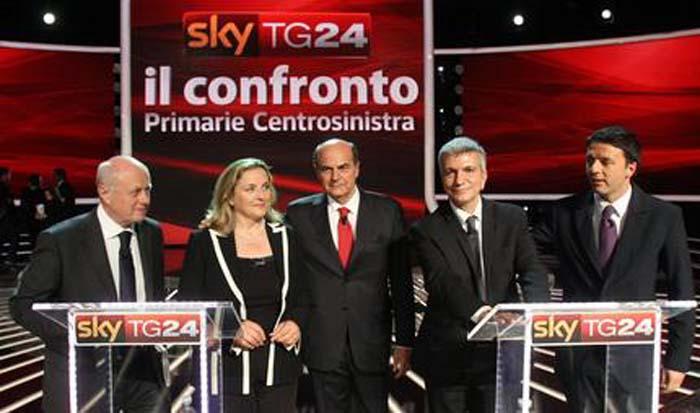 Primarie centrosinistra 2012: Tabacci, Puppato, Bersani, Vendola, Renzi