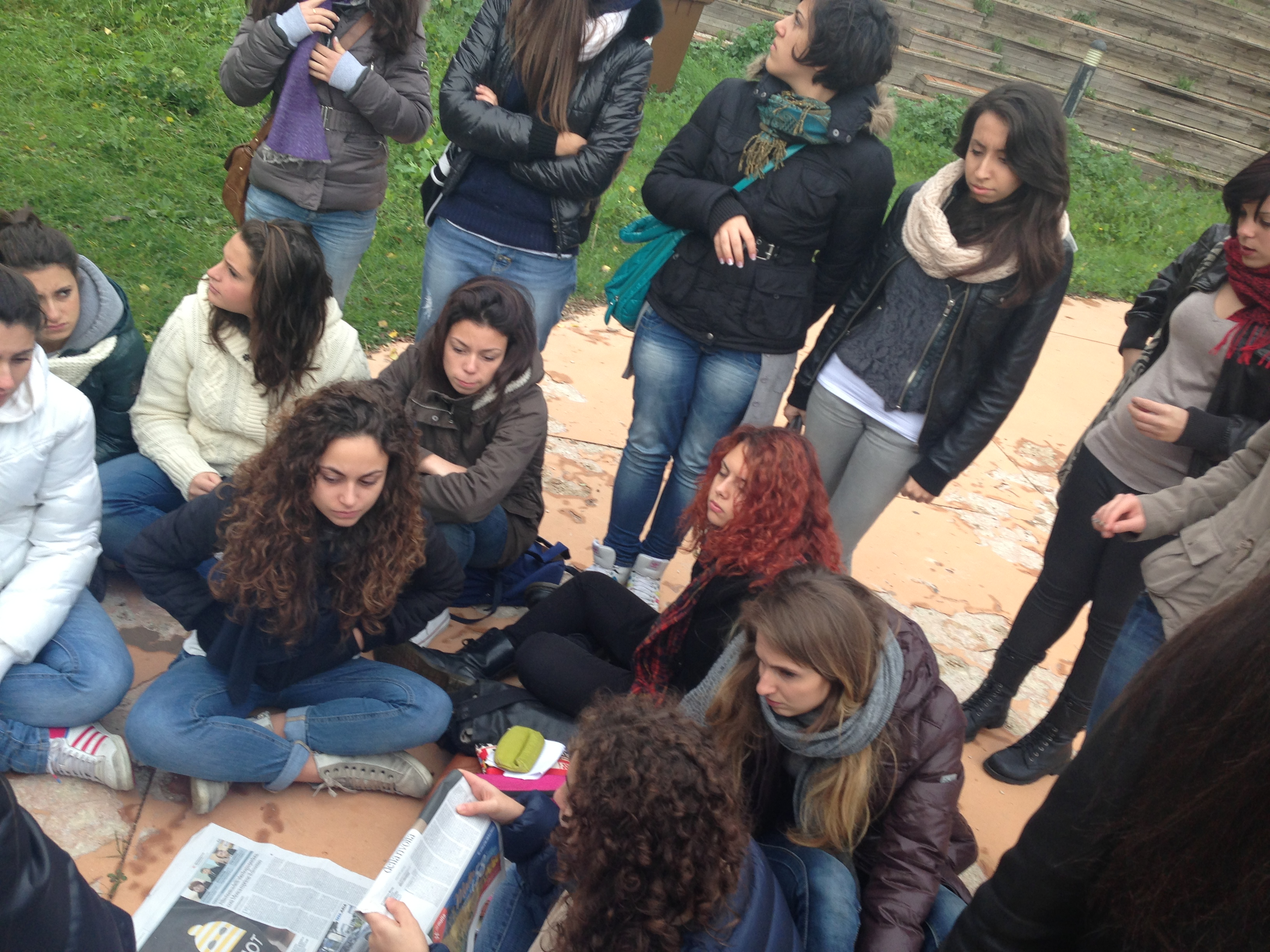Protesta dei ragazzi del Mercantini di Ripatransone (1)