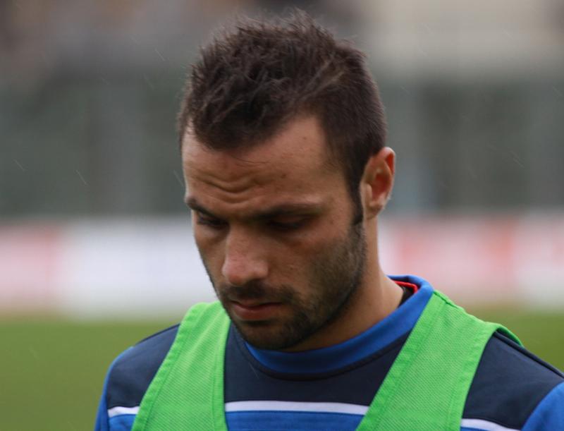 Samb-Ancona 2-2, Napolano prova su punizione (foto Bianchini) (5)