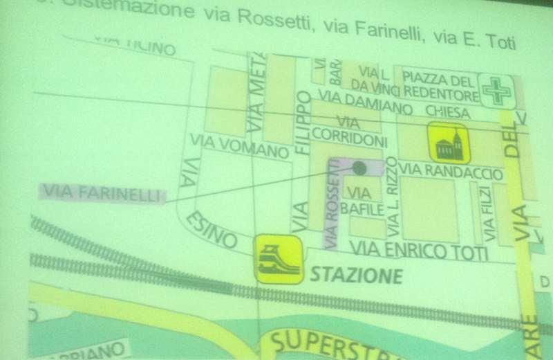 Sistemazione di via Rossetti, via Farinelli e via Toti
