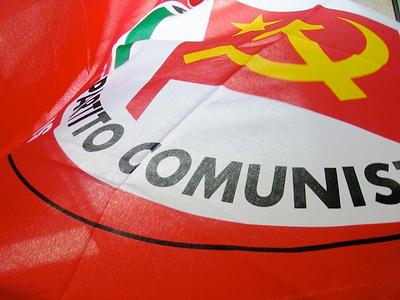 La bandiera di Rifondazione Comunista