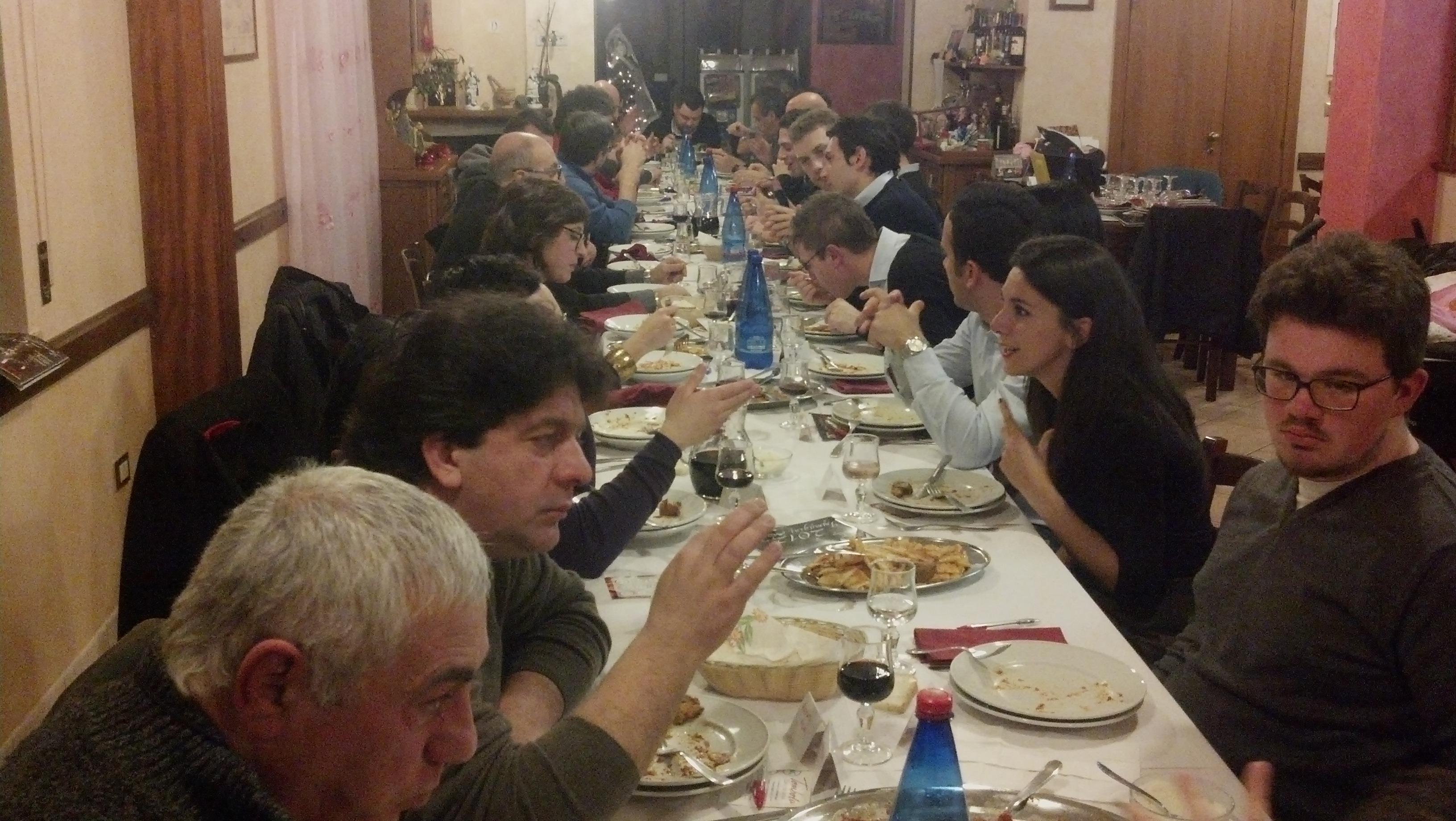 Cena di fine anno per i lettori e la redazione di Riviera Oggi da Nonna Peppa