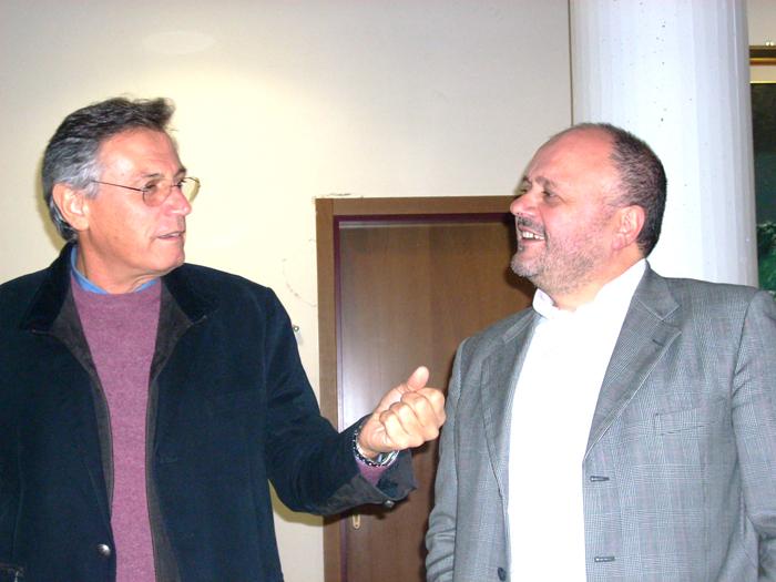 Perazzoli e Gaspari che se la ride. I sindaci per 16 anni negli ultimi venti