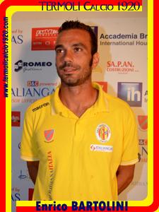 Enrico Bartolini (Foto tratta dal sito ufficiale del Termoli calcio)  attuale capocannoniere del Girone F con 12 reti