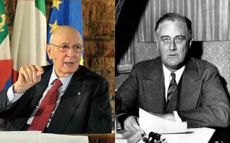 Giorgio Napolitano e Franklin Delano Roosevelt