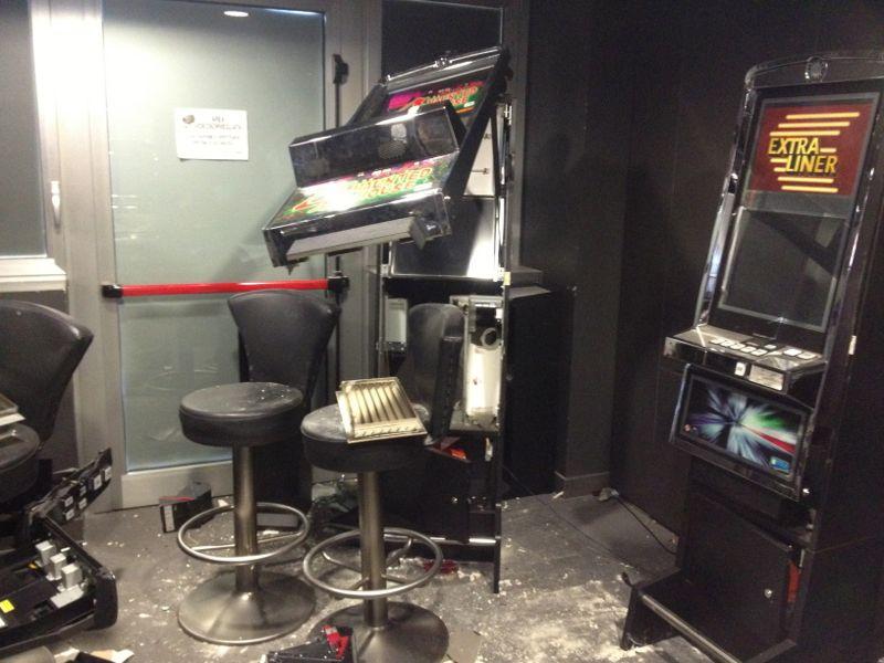 la sala slot della Merkur Win dopo il colpo