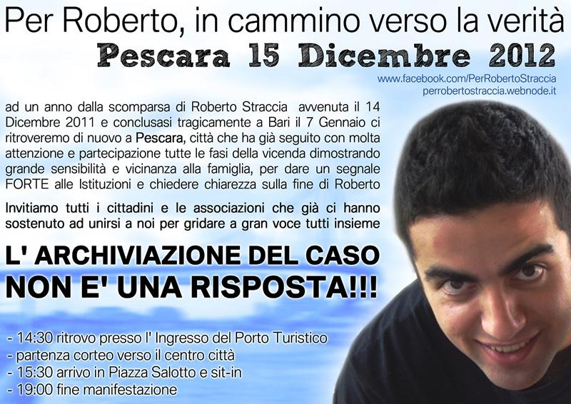 Per Roberto, Pescara 15 dicembre 2012