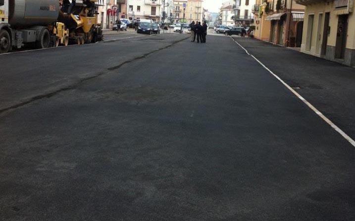 Piazza della Verdura col nuovo asfalto, 15 dicembre