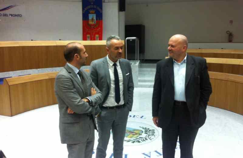 Da sinistra Paolo Canducci, Leonardo D'Isidori e Giovanni Gaspari