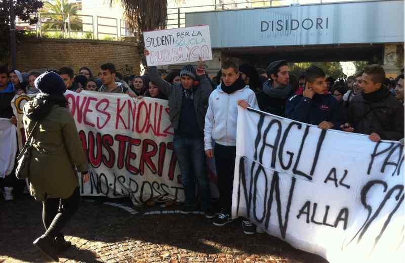 Protesta studentesca del 3 dicembre 2012