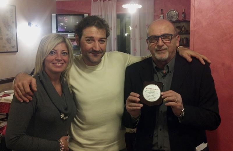 Liana e Fabrizio di Nonna Peppa, premiati ieri sera dal nostro direttore