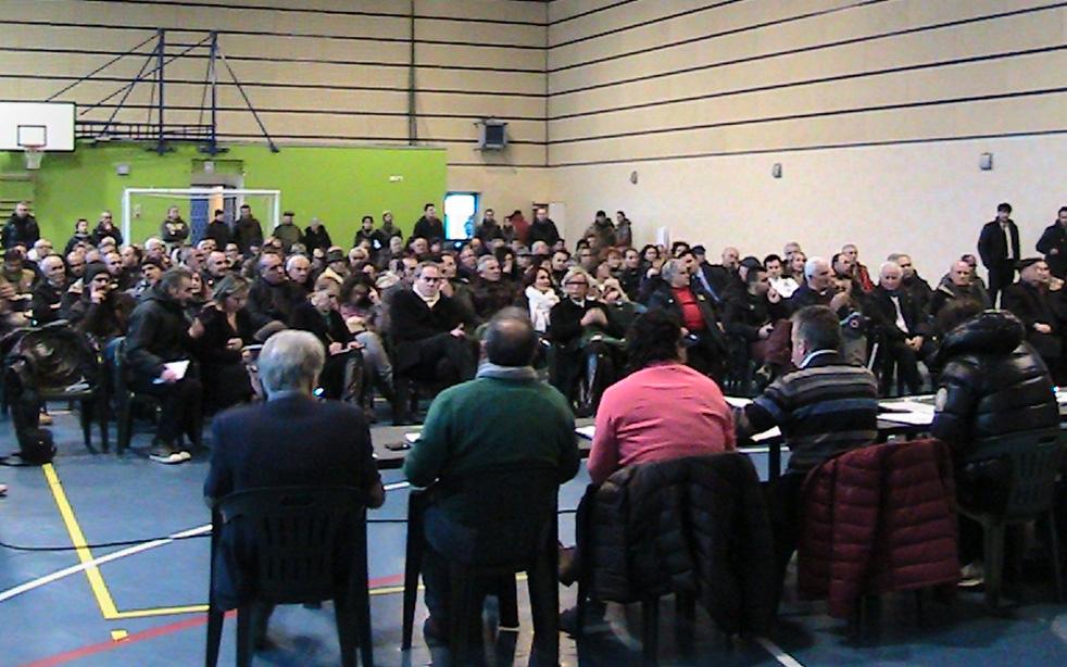 Assemblea sulla centrale di stoccaggio Gas Plus all'Agraria, 26 gennaio