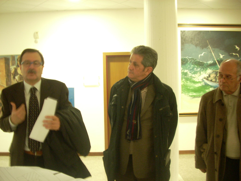 Leo Sestri con il gruppo di architetti ed ingegneri