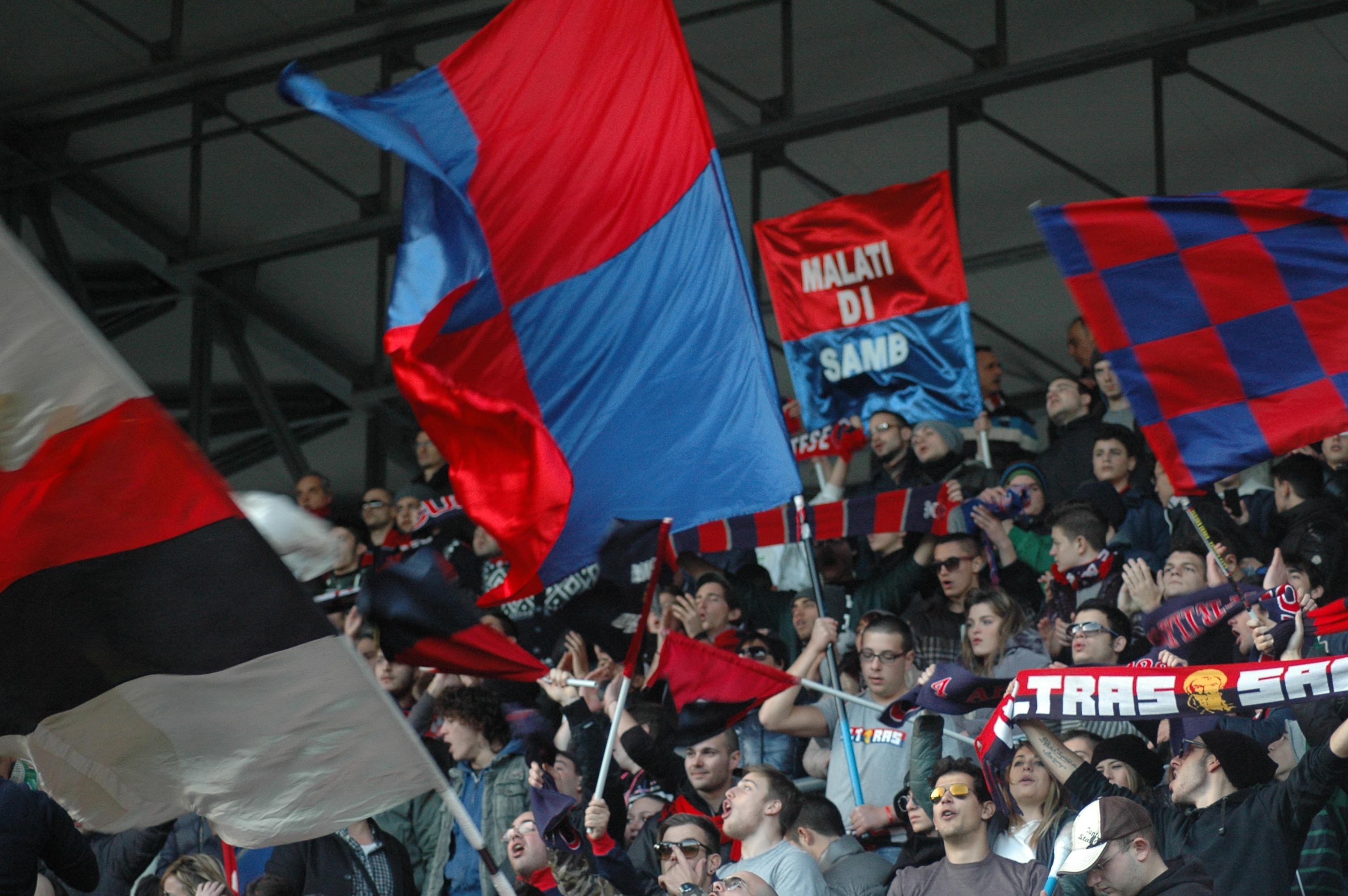 Samb-San Nicolò, tifosi della Curva Nord (giammusso)