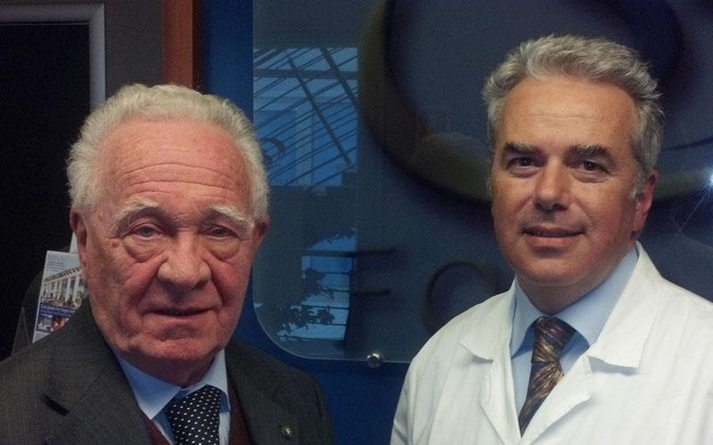 Gianfranco Salvi e Luigi Olivieri del Centro Salute e Benessere