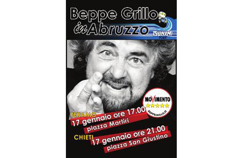 Beppe Grillo a Teramo il 17 gennaio