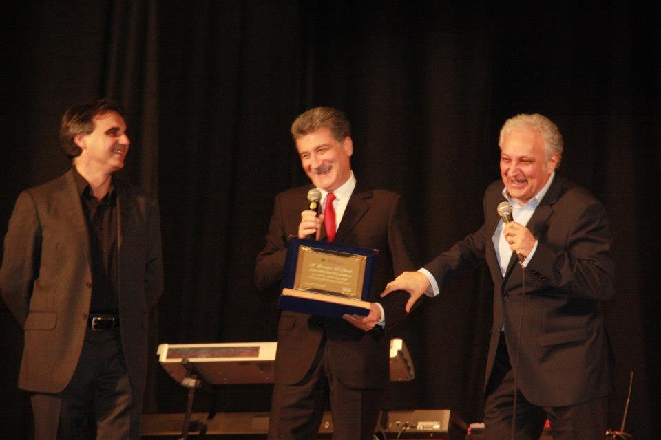 Grottammarese dell'anno 2012. Da sinistra Valter Assenti, Luigi Merli e 'Nduccio
