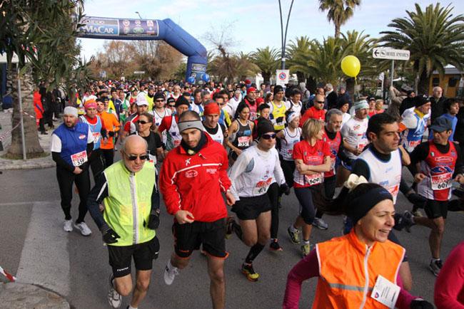 La partenza della maratonina