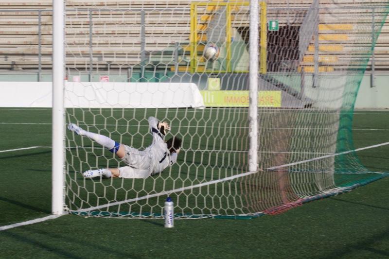 Amiternina-Samb, gol Napolano (foto Bianchini)