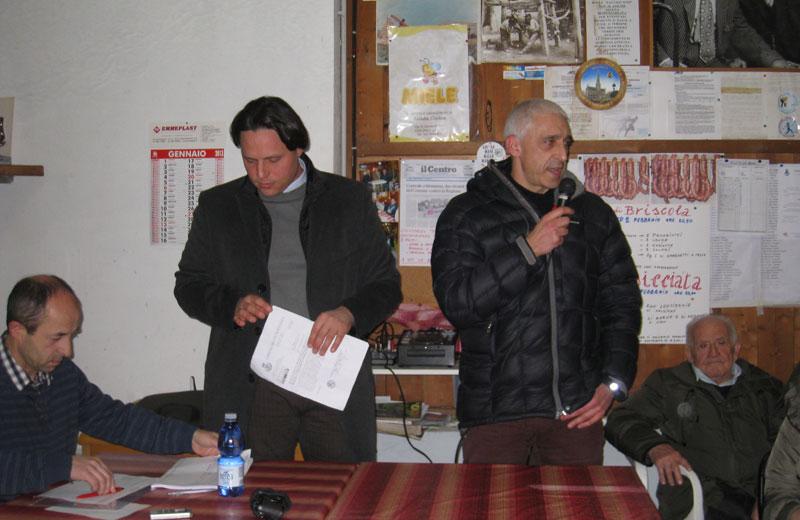 Daniele Di Giuseppe del comitato Aria Nostra ed Emidio Morganti del comitato Salute Pubblica