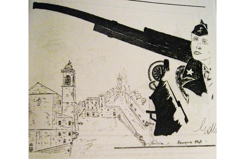 Tunisia, Pasqua 1945. Giuseppe in guerra pensa a Colonnella