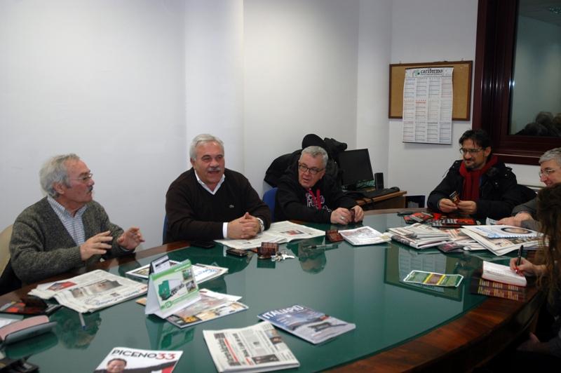 Il comitato organizzatore, il sindaco D'Annibali e l'assessore alla Cultura Luciano Bruni
