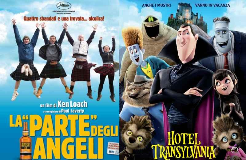 La parte dgli angeli e Hotel Transylvania, locandine