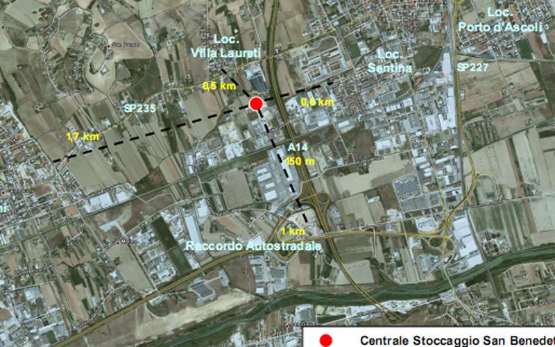 Rapporto preliminare di sicurezza di Gas Plus Storage, un errore nel posizionamento di Sentina e Porto d'Ascoli
