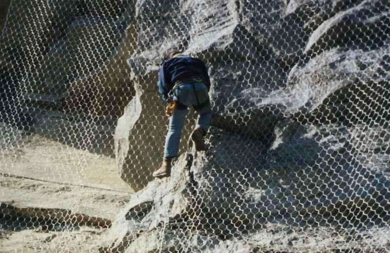 Rete di protezione per caduta massi