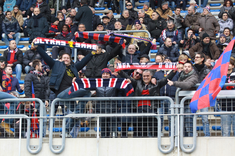 Samb-San Cesareo 3-3 (foto Bianchini) tifosi tribuna