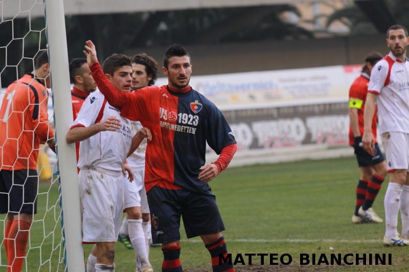 Samb-San Cesareo 3-3 (foto Bianchini) Santoni