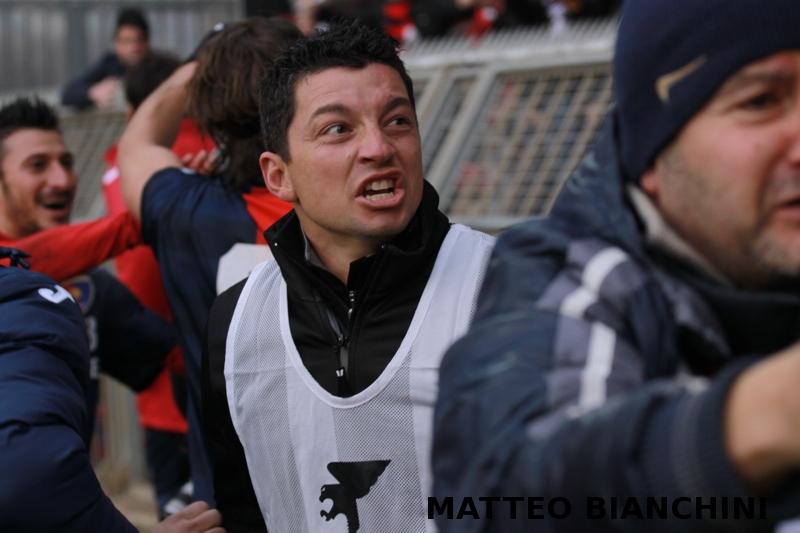 Samb-San Cesareo 3-3 (foto Bianchini) fotografi e tifosi