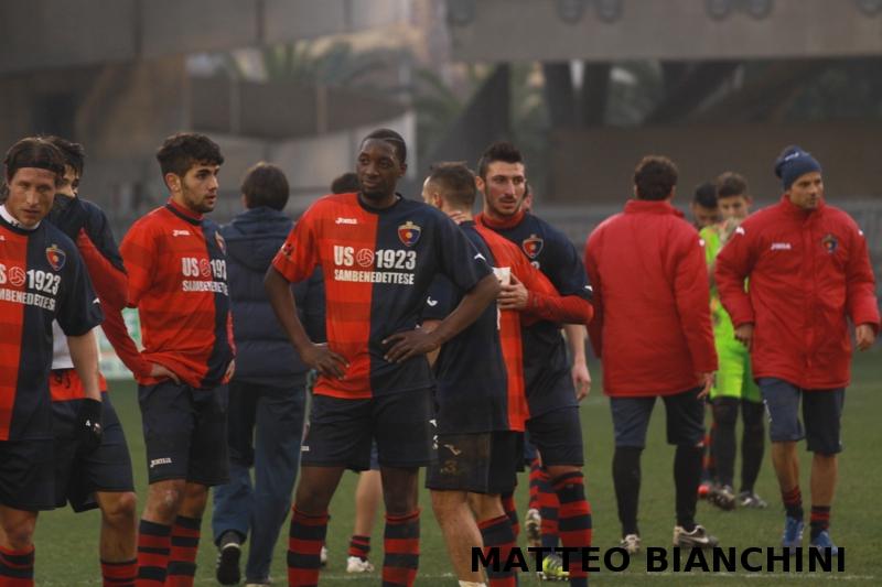 Samb-San Cesareo 3-3 (foto Bianchini) Djibo
