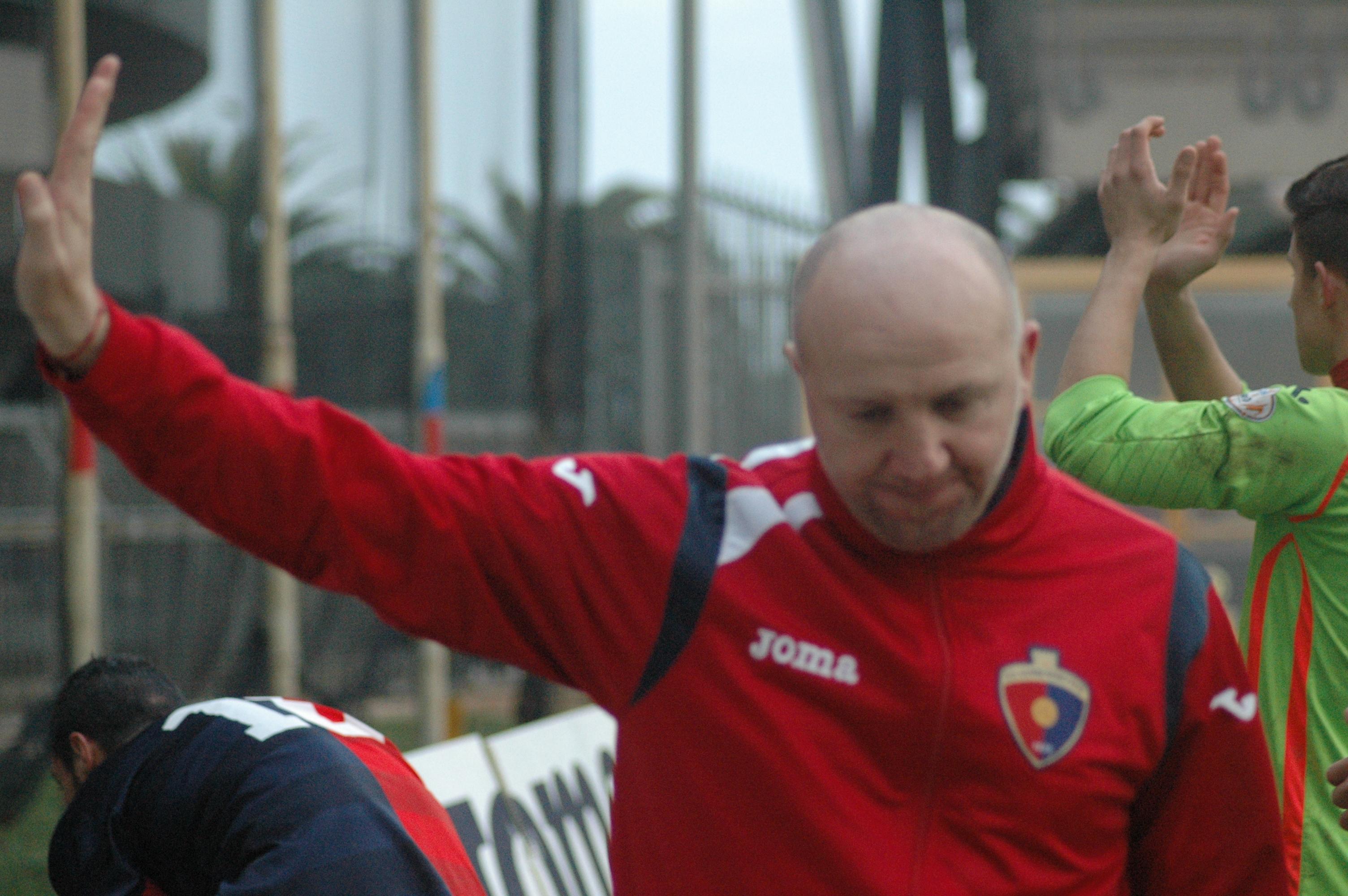 Samb-San Cesareo, Palladini quasi si scusa con i tifosi a fine gara (Giammusso)