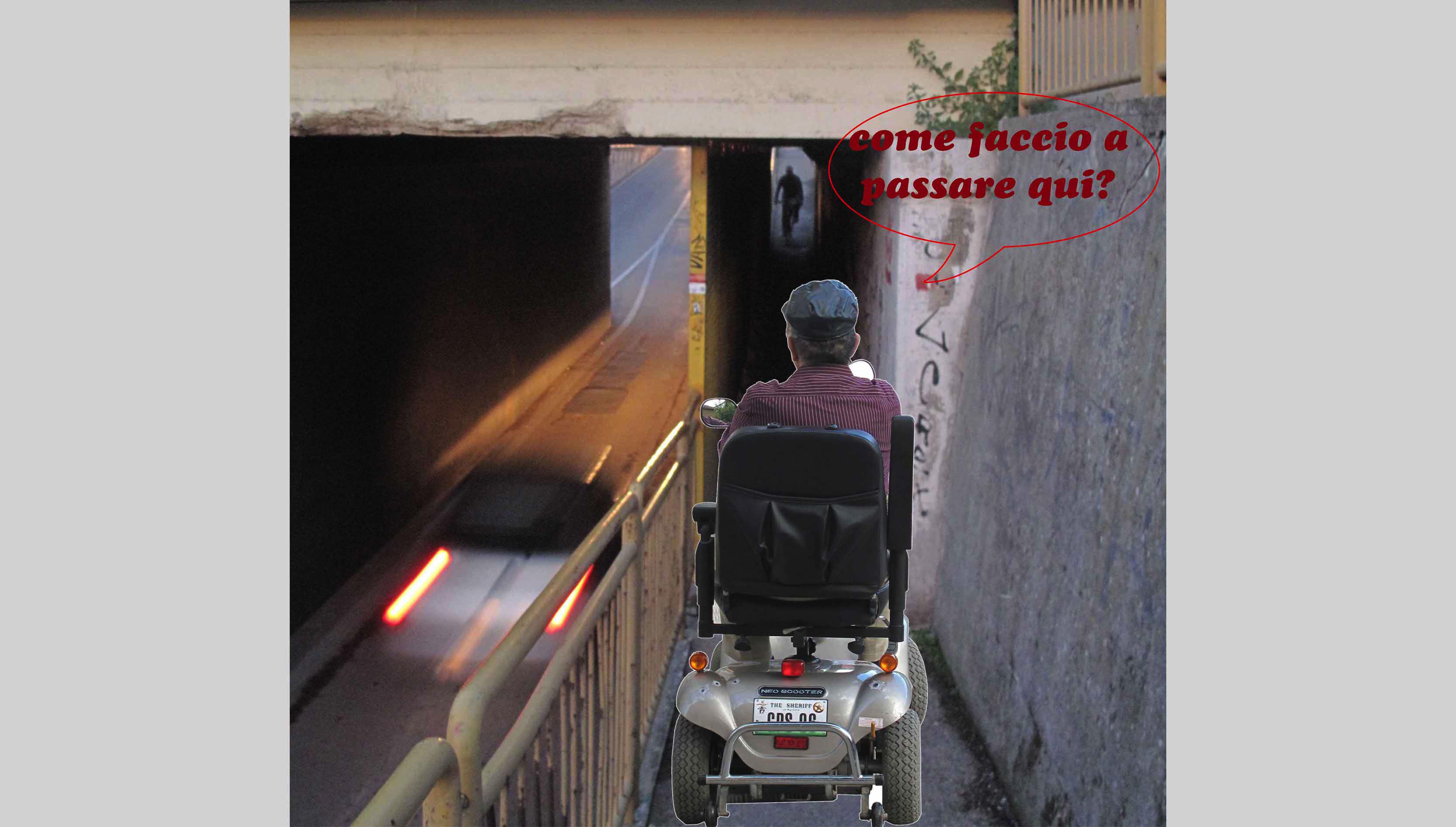 Sottopasso di via Mare, problemi per i portatori di handicap
