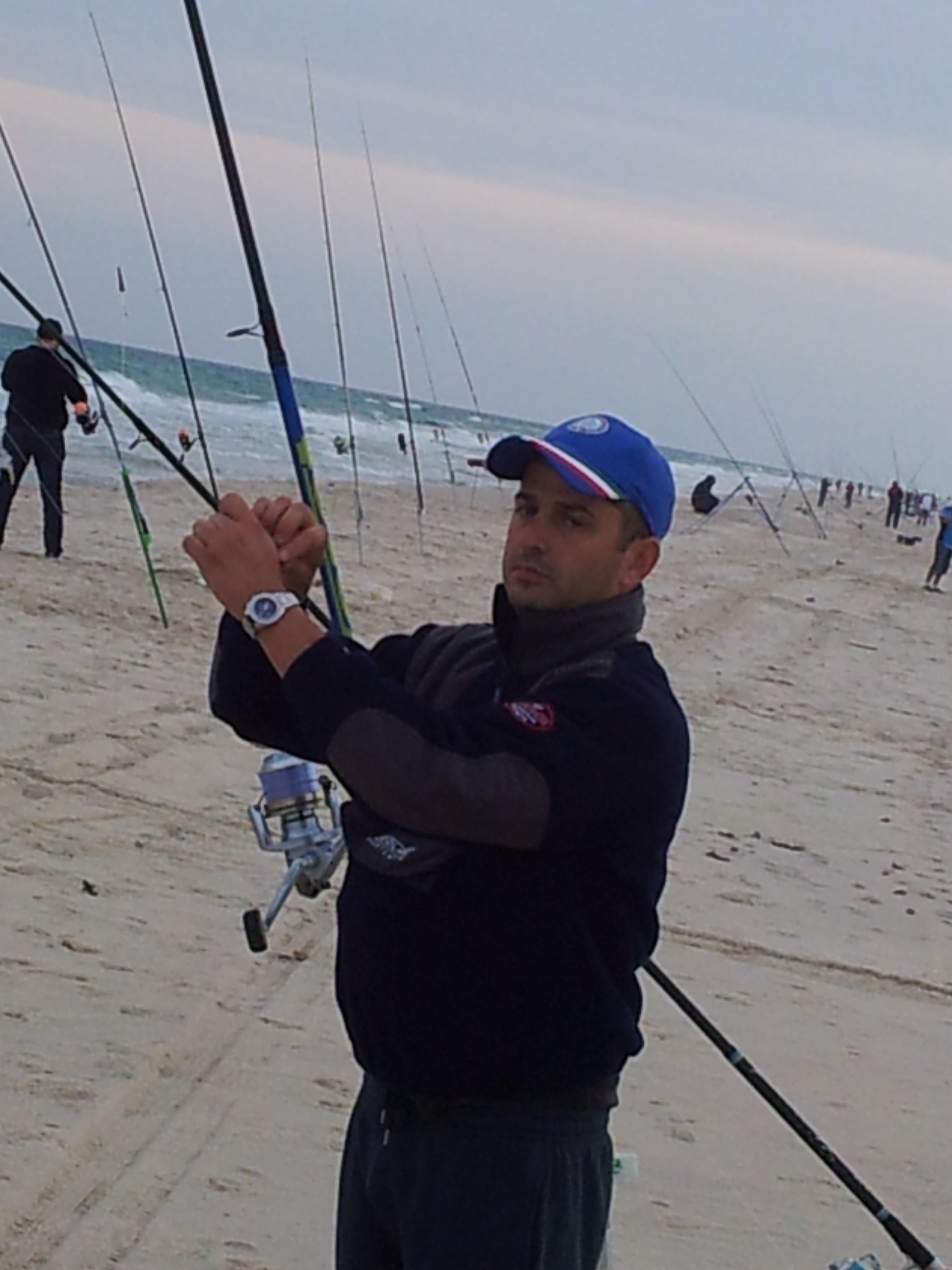Zefferino Guidi in pesca