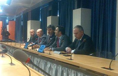 La presentazione di Fratelli d'Italia Abruzzo (foto Ansa)