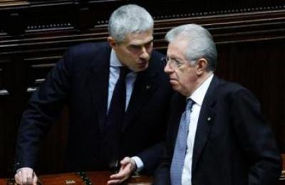 Pierferdinando Casini e Mario Monti