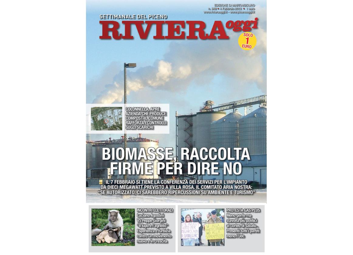Riviera Oggi in edicola, edizione per Martinsicuro