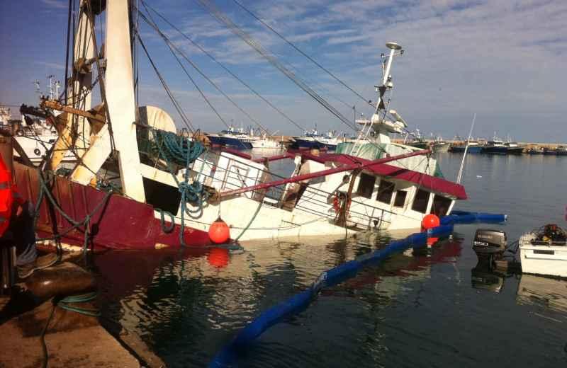 Affondamento peschereccio Eragon (2)